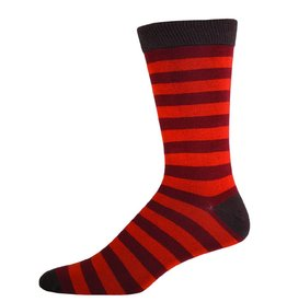 Socksmith Socksmith - Bamboo Stripe - Brown - MBC2 - Crew - Men's