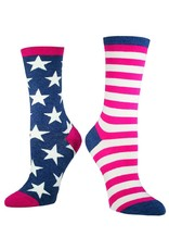 Socksmith Socksmith - Flag - Vintage Blue - WNC337 - Crew - Women's
