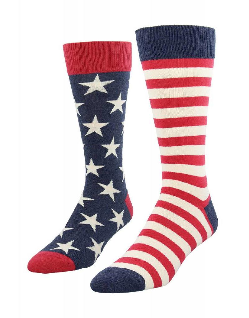 Socksmith Socksmith - King Size - Flag - Vintage Blue - K-MNC611 - Crew - Men's