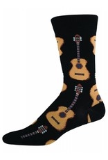 Socksmith Socksmith - Guitars - Black - MNC202 - Crew - Men's
