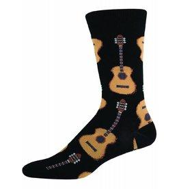 Socksmith Socksmith - Guitars - Black - MNC202 - Crew - Men's