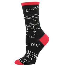 Socksmith Socksmith - Math - Black - WNC570 - Crew - Women's