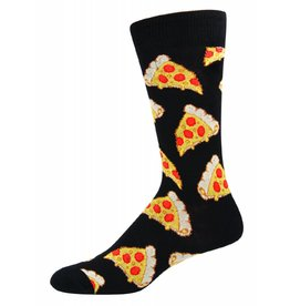 Socksmith Socksmith - Pizza - Black - SSM1414 - Crew - Men's