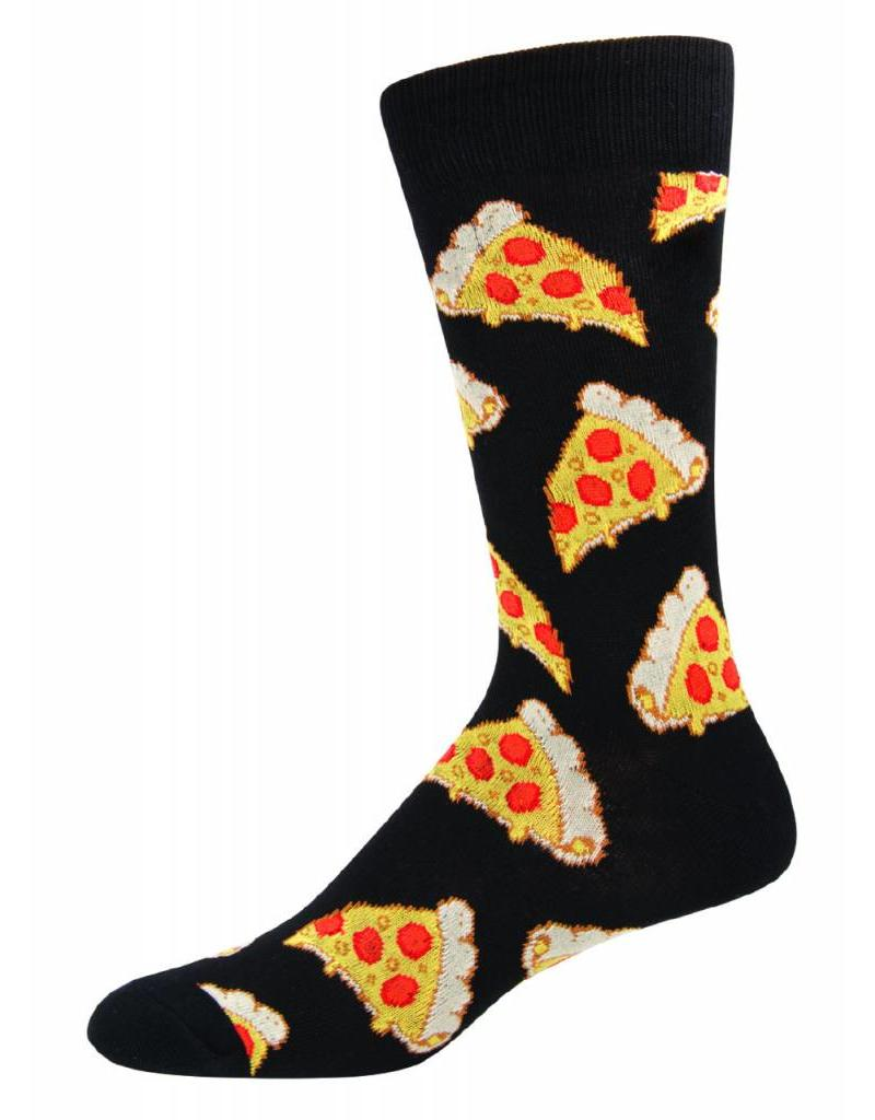 Socksmith Socksmith - Pizza - Black - SSM1414 - Crew - Men's