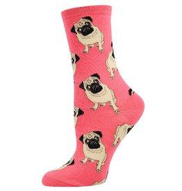 Socksmith Socksmith - Pugs - Peach - WNC338 - Crew - Women's