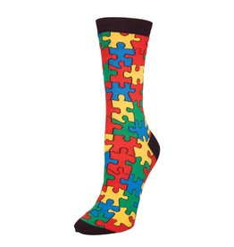 Socksmith Socksmith - Puzzled - Black - SSW1122 - Crew - Women's