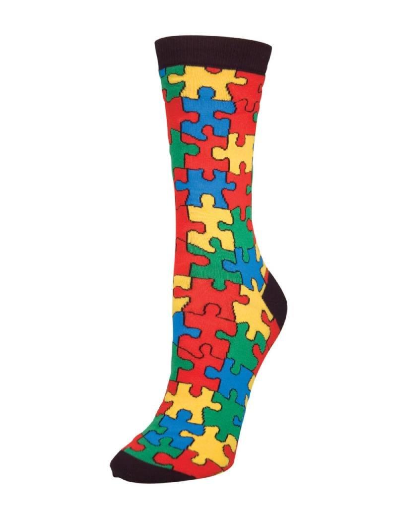 Socksmith Socksmith - Puzzled - Black - SSW1122 - Crew - Women's