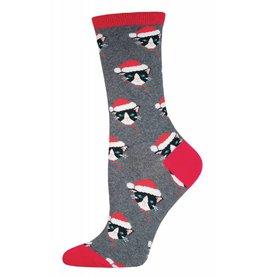 Socksmith Socksmith - Santa Cats - Heather Gray - WNC510 - Crew - Women's