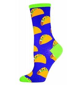 Socksmith Socksmith - Tacos - Purple - WNC491 - Crew - Women's