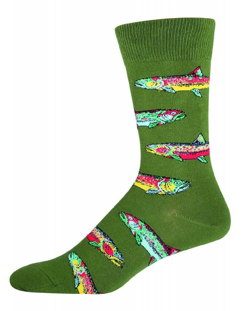 Socksmith Socksmith - Trout - Parrot Green - MNC408 - Crew - Men's