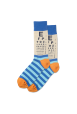 Hot Sox Hot Sox - Eye Chart - Natural Melange - HSM10127 - Crew - Men's