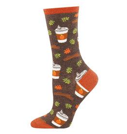Socksmith Socksmith - Pumpkin Spice Up Your Life - Brown Heather - WNC1576 - Crew - Women's