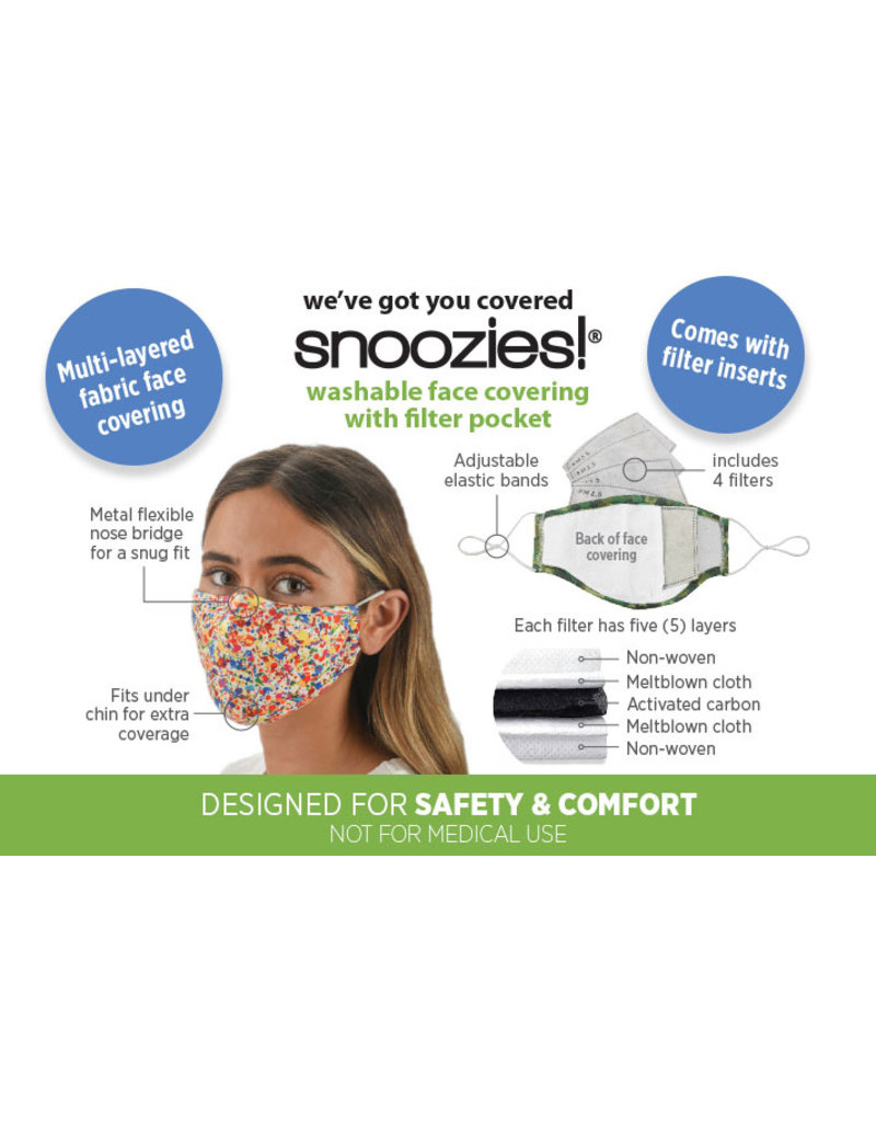 Snoozies - Black Solid - Mask - One Size