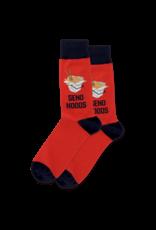 Hot Sox Hot Sox - Send Noods - Red - HSM10036 - Crew - Men's