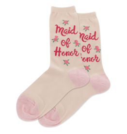 Hot Sox Hot Sox - Maid of Honor - Blush - HSW50001 - Crew - Women's