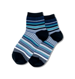 Hot Sox Hot Sox - Variegated Stripe - Navy - HSW30009 - Anklet - Women's
