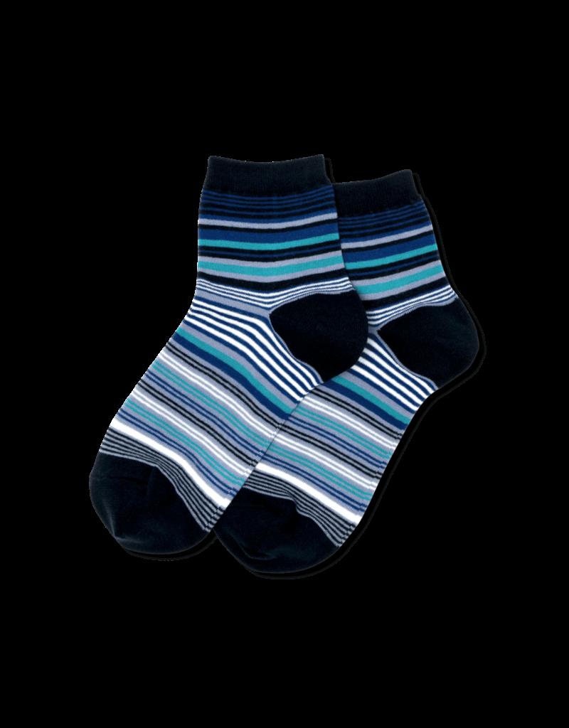 Hot Sox Hot Sox - Variegated Stripe - Navy - HSW30009 - Anklet - Women's