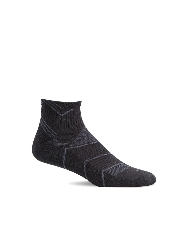 Sockwell Sockwell - Moderate Compression - Incline Quarter - SW11M - Black Solid - Men's