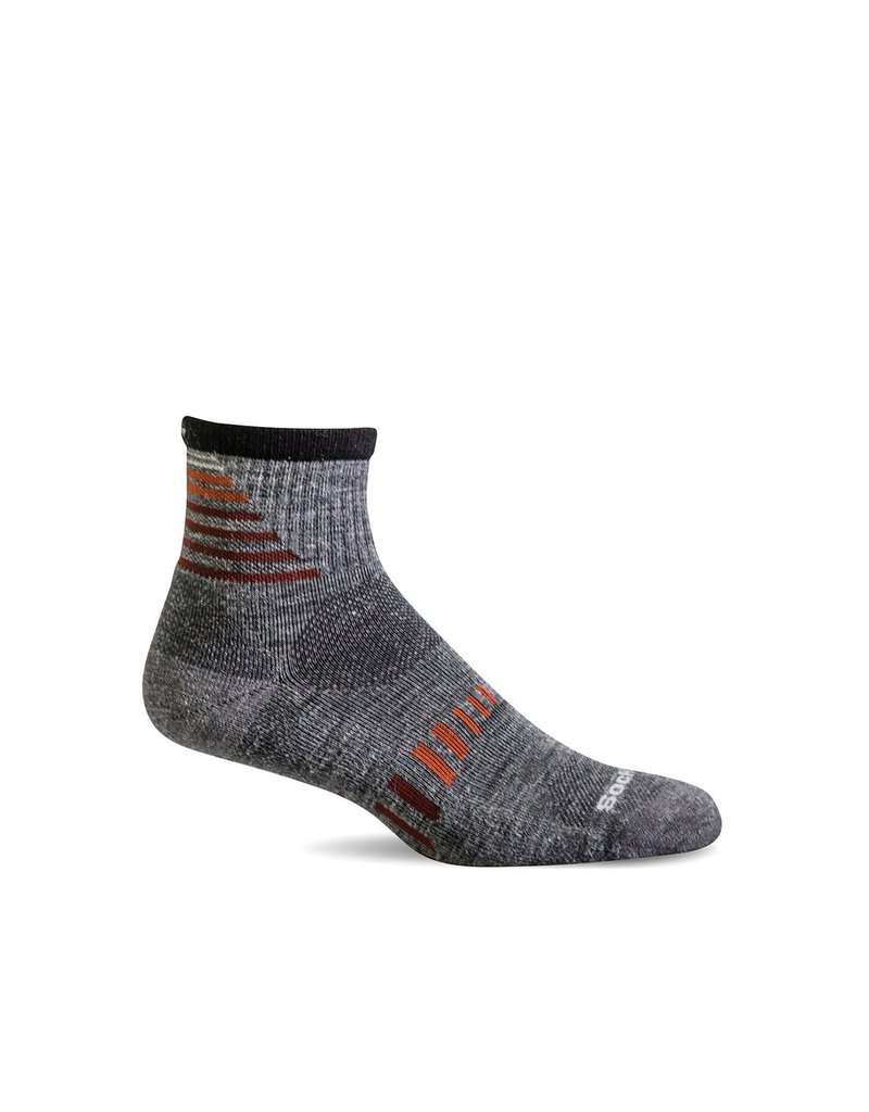Sockwell Sockwell - Moderate Compression - Ascend II Quarter - SW67M - Grey - Men's
