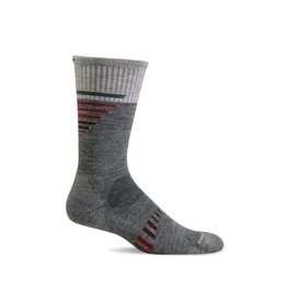 Sockwell Sockwell - Moderate Compression - Ascend II Crew - CT36M - Grey - Men's