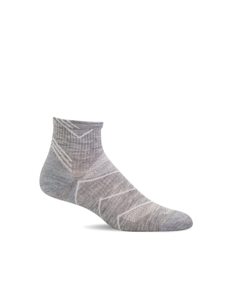 Sockwell Sockwell - Moderate Compression - Incline Quarter - SW11W - Light Grey Solid - Women's