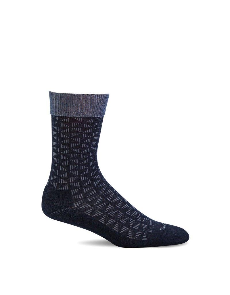 Sockwell Sockwell - Relaxed Fit/Diabetic - Easy Street - SW43M - Black - Men's