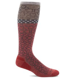 Sockwell Sockwell - Moderate Lifestyle Compression - Botanical - SW43W - Red Rock - Women's
