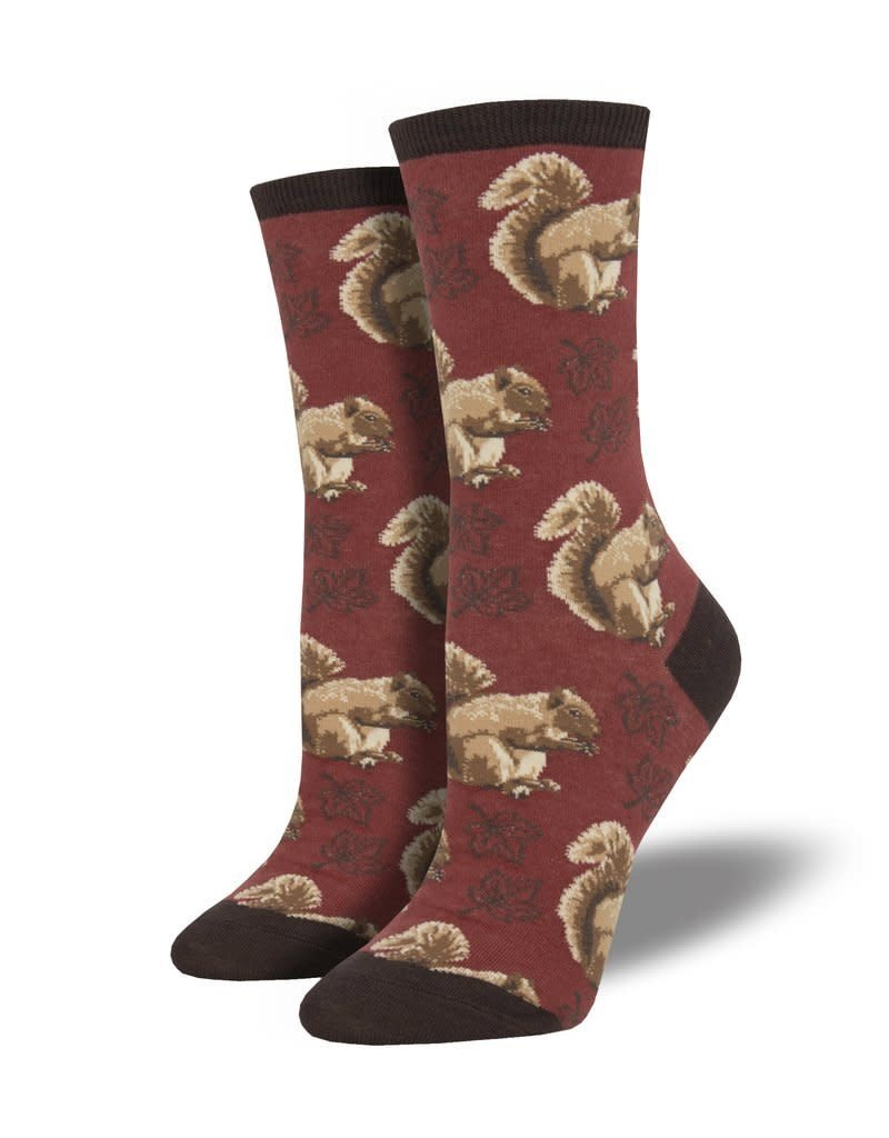 Socksmith Socksmith - Nuts About Fall - Red - WNC1887 - Crew - Women's