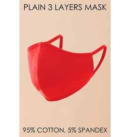 Hyfve Medical Essential Hyfve - Red - 3-Layer - Mask - One Size