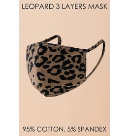Hyfve Medical Essential Hyfve - Leopard - 3-Layer - Mask - One Size