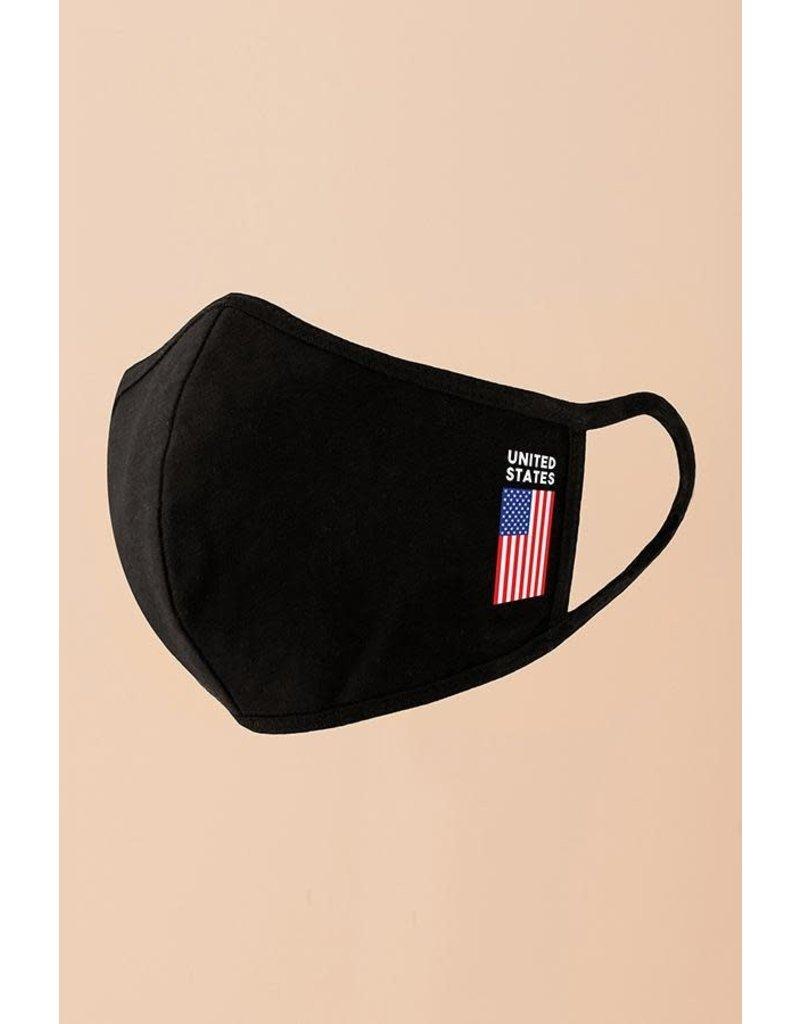 Hyfve Medical Essential Hyfve - USA Flag on Black - 3-Layer - Mask - One Size