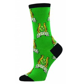Socksmith Socksmith - Luck Of The Irish - Shamrock - WNC777- Crew - Women's