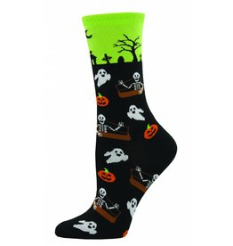 Socksmith Socksmith - Undead Friends - Lime - WNC720LIM - Crew - Women's