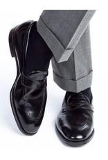 Dapper Classics Dapper Classics - Black Solid Ribbed - Cotton - OTC