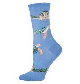 Socksmith Socksmith - Sea Turtles - Periwinkle - WNC421PRW - Crew - Women's
