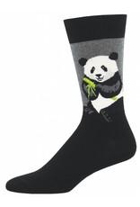 Socksmith Socksmith - Bamboo Peaceful Panda - Gray Heather - MNC1545 - Crew - Men's