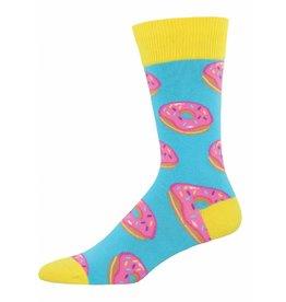 Socksmith Socksmith - Donuts - Baby Blue - MNC681 - Crew - Men's