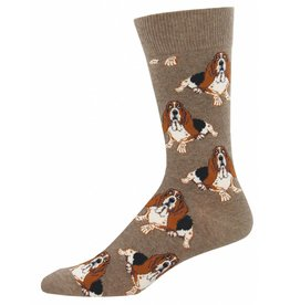 Socksmith Socksmith - Nothing But A Hound Dog - Light Brown Heather - MNC933 - Crew -  Men's