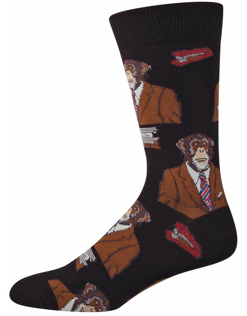 Socksmith Socksmith - Monkey Biz - Black - MNC362 - Crew - Men's