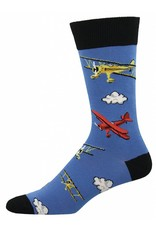 Socksmith Socksmith - Flyin Bi - Blue Fog - MNC597 - Crew - Men's
