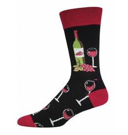 Socksmith Socksmith - Wine Scene - Black - MNC530 - Crew - Men's