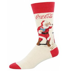 Socksmith Socksmith - Classic Coke Santa - Heather Ivory - MNC1562 - Crew -  Men's