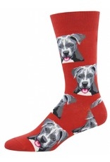 Socksmith Socksmith - Pit Bull - Red - MNC1547 - Crew - Men's