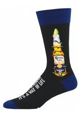Socksmith Socksmith - Coronavidad - Black - MNC957 - Crew -  Men's