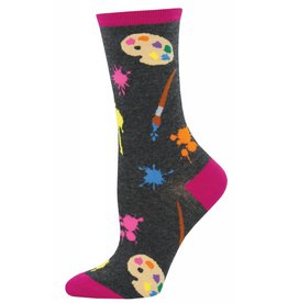 Socksmith Socksmith - Painter's Palette - Charcoal Heather - WNC902 - Crew - Women's