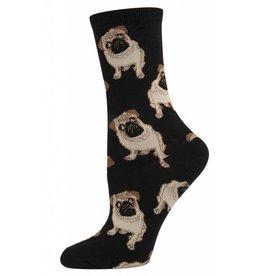 Socksmith Socksmith - Pugs - Black - WNC338 - Crew - Women's
