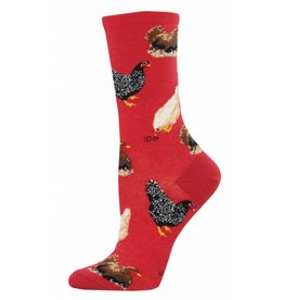 Socksmith Socksmith - Hen House - Red- WNC774- Crew - Women's