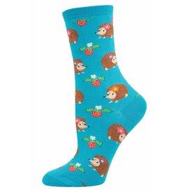 Socksmith Socksmith - Hedgehogs - Bright Blue - WNC340 - Crew - Women's