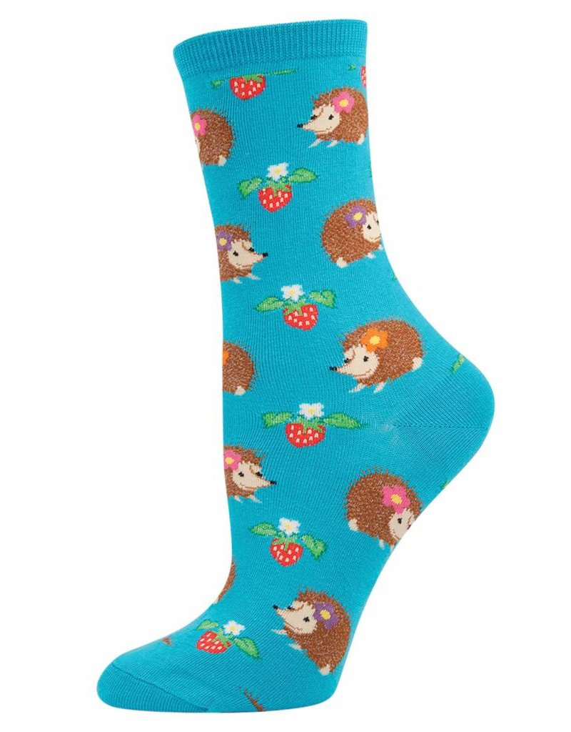Socksmith Socksmith - Hedgehogs - Bright Blue - WNC340 - Crew - Women's