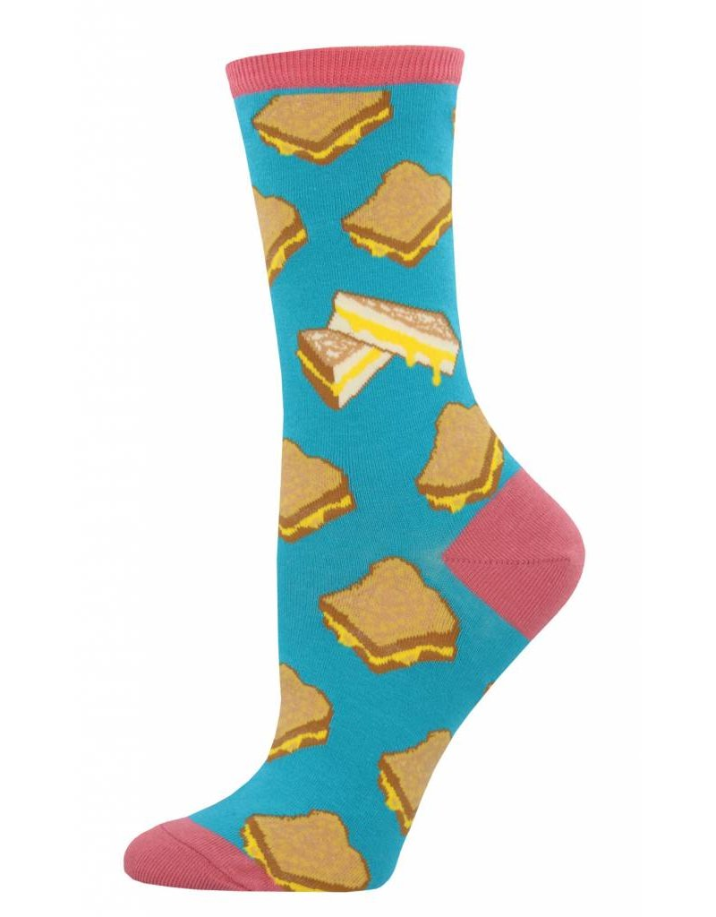 Socksmith Socksmith - Grilled Cheese - Turquoise - WNC695 - Crew - Women's